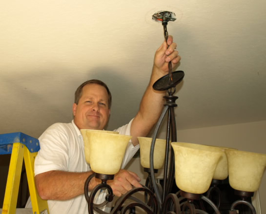 Thousand Oaks Lighting Electrical Contractor Hanging Chandelier